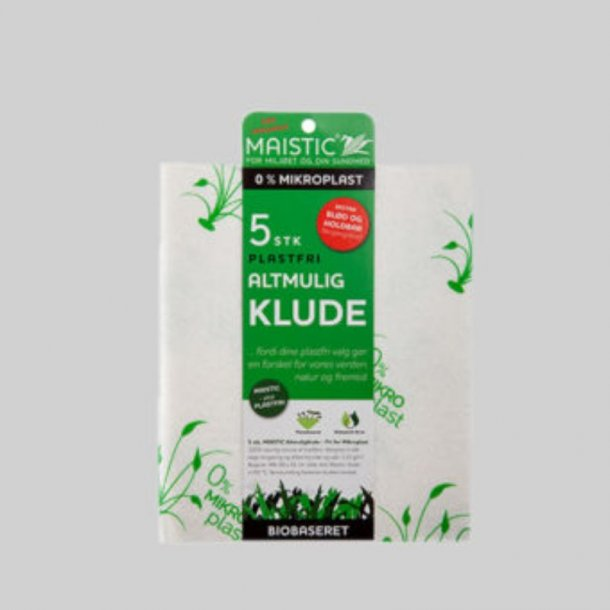 Alt-mulig-klude 5 stk. mikroplastfri Maistic - Miljøvenlig