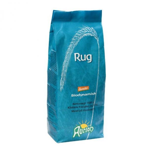Fuldkorns Rugmel Aurion 1½ kg. - Biodynamisk